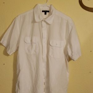 Banana republic  short sleeve button-down